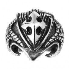 Mysterious Dragon Scales Sword Shield Titanium Rings GMYR147