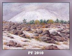 Vesuvius in winter, watercolor by Jana Haasová