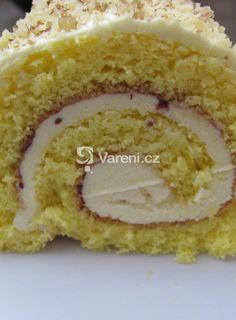 Piškotová roláda s vanilkovým krémem