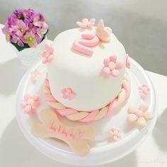 Bolo de 2 aninhos da minha baby Lilly ! Feito por mim :)  #cakes #bolo #pet #aniversario
