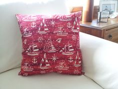 Batik Sailboats by hmishke on Etsy, Nautical Pillow Covers, Nautical Pillows, Sailboats, Gift Wrapping, Throw Pillows, Trending Outfits, Unique Jewelry, Handmade Gifts, Beautiful