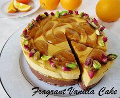 Raw Chocolate Orange Blossom Mousse Cake