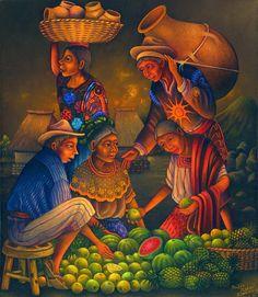 Venta en el mercado. Pedro Rafael González Chavajay. Guatemala. es el más respetado de todos los que viven…