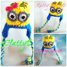 Despicable Me Minion For BOY OR GIRL Crochet Hat by NattyHatty, $16.99