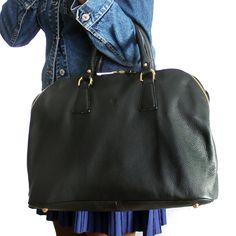 MARLAFIJI SAM UNISEX BLACK ITALIAN LEATHER OVERNIGHT BAG ON SALE NOW www.marlafiji.com