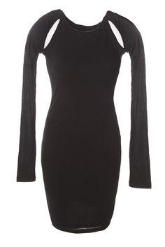 Black Jersey Chill Out Dress - Ladakh
