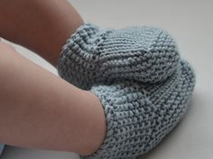 Baby Socks Booties Blue Baby Socks Newborn To 12 by CJsHandknits #pottiteam #EtsyGifts