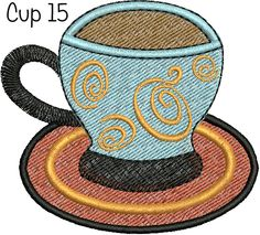 Coffee Cup Designs: Cups 8 -18