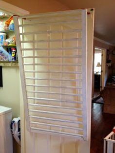 10 ways to repurpose a baby crib - laundry room drying rack