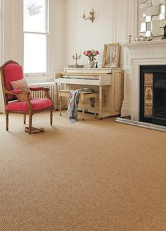 Axminster Carpets - Simply Natural Ribgrass in Straw/Walnut