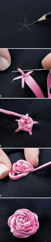 Ribbon roses – DIY real
