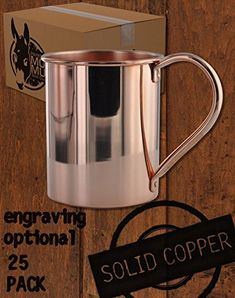 Solid Copper Moscow Mule Mug by Paykoc Copper Moscow Mule Mugs, Copper Mugs, Kentucky Mule, Cold Temperature, Ginger Beer, Classic Cocktails, Bourbon, 1 Piece, Shot Glass