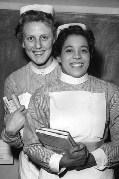Angela Cools-Larttigue and Sheila Beck, two nurses at the Hospital of St John and St Elizabeth in London, are pictured after an awards ceremony where the two nurses tied for the first prize in Surgery
