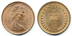 You'd pay for sweets with half penny coins. Paisley Scotland, Best Of British, Collections Of Objects, Living In England, All Currency, Penny Coin, Pick And Mix, Super Happy, Coin Collecting