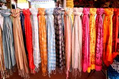 Every wardrobe should have lots of scarves All colours, all sizes and all weights A scarf is the simplist way to update/complete any outfit