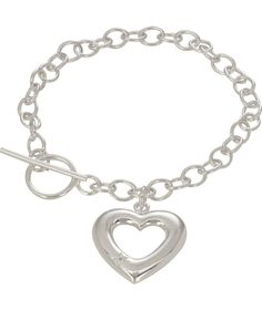 122d065f4 ... discount code for buy sterling silver diamond heart charm t bar bracelet  at argos d3f6e 13ea8