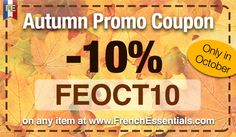 Take advantage of our October Promotional Coupon - Get 10% off any of our items (discounted bundles included) http://www.frenchessentials.com/french-curriculum-ebooks-homeschool-store