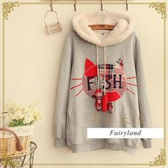 Buy 'Fairyland – Cat Appliqué Hooded Pullover' with Free International Shipping at YesStyle.com. Browse and shop for thousands of Asian fashion items from China and more!