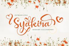 Syakira is a beautiful calligraphy with beautiful stylishtic alternate, swashes and decorate, suitable for your every project such as, frame design, Calligraphy Fonts, Modern Calligraphy, Lettering, Beautiful Calligraphy, Beautiful Fonts, Romantic Fonts, Cricut Fonts, Handwriting Fonts, Premium Fonts