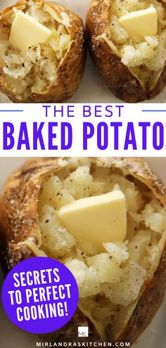 The best baked potato is crispy on the outside like a potato chip and perfectly soft and fluffy on the inside Friend you can t get those results with foil This recipe also has a list of 30 great baked potato toppings for the best ever loaded baked potato Baked Potato Toppings, Best Baked Potato, Perfect Baked Potato, Baked Potato Oven, Cooking Baked Potatoes, Potatoes In Oven, Loaded Baked Potatoes, Potato Dishes, Potato Recipes