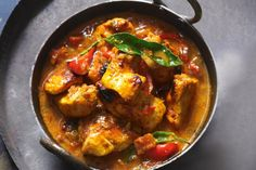 Get-Ahead Chicken Tikka Masala ~ With charred chicken in a rich creamy sauce, this is a crowd-pleasing curry. Keep this creamy freezer-friendly chicken tikka masala curry on hand for busy weeknights. Indian Food Recipes, Gourmet Recipes, Dinner Recipes, Cooking Recipes, Ethnic Recipes, Dinner Ideas, Savoury Recipes, Indian Foods, Indian Dishes