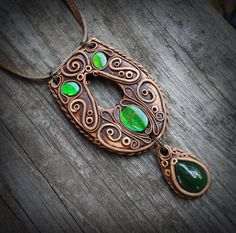 FREE SHIPPING Canadian Ammolite and Russian Jade por FairyDrop