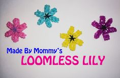 Lily Flower Charm Without the Rainbow Loom tutorial by Made By Mommy.