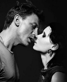 Rooney Mara as Lisbeth Salander and Daniel Craig as Mikael Blomkvist in 'The Girl with the Dragon Tattoo', 2011.