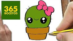 COMO DIBUJAR UN CACTUS KAWAII PASO A PASO - Dibujos kawaii faciles - How to draw a cactus - YouTube