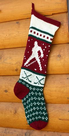 Hand knit Christmas stocking, pattern only   Knitted ...