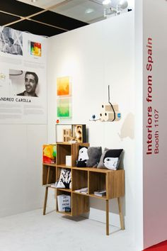 LivingBlock bookcase and Six Houses. ICFF 2014