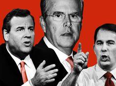 2016 presidential race: Jeb Bush, Scott Walker, John Kasich, Chris Christie, Bobby Jindal, George Pataki, Mike Huckabe, Jim Gilmore, Martin O'Malley, Lincoln Chafee