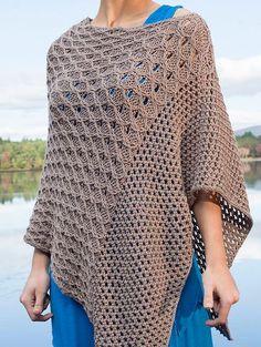 Knitting Pattern for Scarlet Sage Poncho