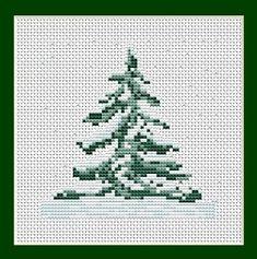 Free Christmas Cross Stitch Patterns   Christmas Tree - Mini Project, Starter Cross Stitch Kit B012