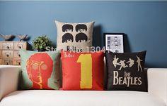 Home Textile Brave Nordic Retro Creative Waist Cushion Cover Letter Guitar Skateboard Shoes Lumbar Pillow Case Sofa Home Decorative Capa De Almofad Attractive Fashion