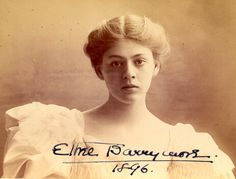 Ethel Barrymore 1896. Drew looks very much like her.