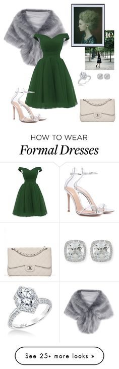 """26"" by thaianemarrocos on Polyvore featuring Chanel, Gianvito Rossi and Frederic Sage"