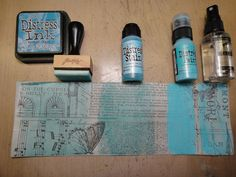 distress inks: *when coloring tissue wrap various distress products work differently so i wanted to share those differences with you. there is no right or wrong product to use, but the final look will definitely vary based on which product you choose.