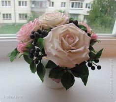Флористика Лепка Розовое настроение Фарфор холодный фото 1