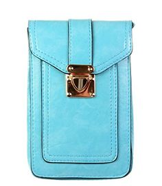 Just ModeTMUniversal Leather Mini Pockets Shoulder Bags Crossbody Phone Pouch Purse Wallet Holster CaseSkyblue *** For more information, visit image link. (Note:Amazon affiliate link)
