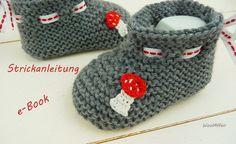 knit  Fliegenpilz-Schühchen - DIY