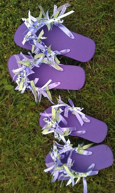 flip flop craft ideas | Ideas That Make Me Happy: Ribbon Flip Flops