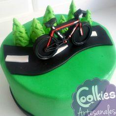 Tarta de fondant ciclismo.  Coolkies