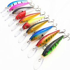 BangGood - Eachine1 ZANLURE 10pcs/ set Minnow Fishing Lures Crankbaits Hard Hooks Floating Baits Deep Swim - AdoreWe.com