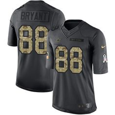 Nike Cowboys #88 Dez Bryant Black Youth Stitched NFL Limited 2016 Salute to Service Jersey