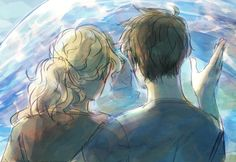 Trying to impress by staticcolour Percy Jackson Books, Percy Jackson Fandom, Solangelo, Percabeth, Oncle Rick, Percy And Annabeth, Trials Of Apollo, Magnus Chase, Half Blood