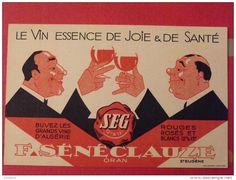Buvard Sénéclauze. vin d´algérie. Oran. vers 1950
