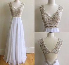Lovely Dresses, Sexy Dresses, Formal Dresses, Sexy Party Dress, Moda Fashion, Chiffon Dress, White Chiffon, Dresses For Teens, Homecoming Dresses