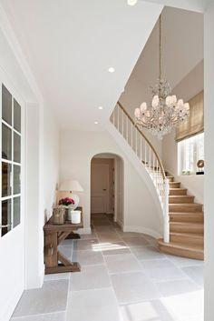 Rural villa in Alken Modern Stairs Alken . Interior Architecture, Interior Design, Modern Stairs, House Stairs, House Entrance, Staircase Design, My Dream Home, Ideal Home, Home And Living