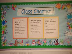 Rights respecting charter Class Charter Ks1, Class Charter Display Ks2, Class Displays, School Displays, Classroom Displays, Elementary School Counseling, Elementary Schools, Classroom Charter, Rights Respecting Schools
